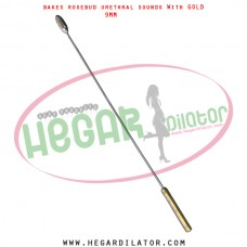Bakes rosebud urethral sounds dilator with gold 10mm