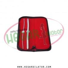 Hegar uterine dilator set of 2pcs 3-4, 11-12,