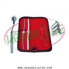 Hegar dilator Set of 2pcs 3-4, 11-12, pinwheel, collin speculum 3pcs