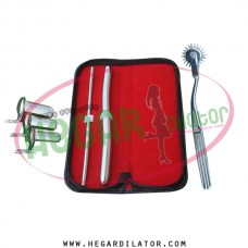 Hegar dilator Set of 2pcs 5-6, 13-14, pinwheel,  collin speculum 3pcs