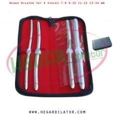 Hegar dilator set 4 pieces 7-8, 9-10, 11-12 and 13-14 mm