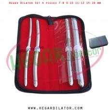 Hegar dilator set 4 pieces 7-8, 9-10, 11-12 and 15-16 mm