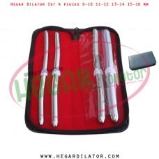Hegar dilator set 4 pieces 9-10, 11-12, 13-14 and 15-16 mm