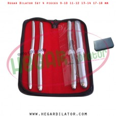 Hegar dilator set 4 pieces 9-10, 11-12, 13-14 and 17-18 mm