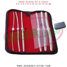 Hegar dilator set 6 pieces 3-4, 5-6, 7-8, 9-10, 11-12 and 13-14 mm