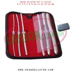 Hegar dilator set 6 pieces 3-4, 5-6, 7-8, 9-10, 11-12 and 15-16 mm