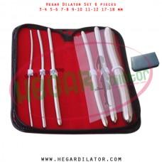 Hegar dilator set 6 pieces 3-4, 5-6, 7-8, 9-10, 11-12 and 17-18 mm