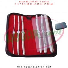 Hegar dilator set 6 pieces 3-4, 7-8, 9-10, 11-12, 13-14 and 17-18 mm