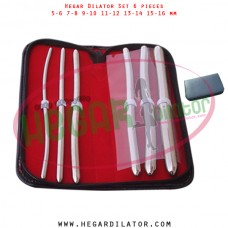 Hegar dilator set 6 pieces 5-6, 7-8,  9-10, 11-12, 13-14, and 15-16 mm