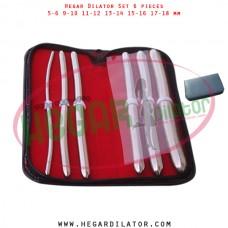 Hegar dilator set 6 pieces 5-6, 9-10, 11-12, 13-14, 15-16 and 17-18 mm