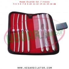 Hegar dilator set 7 pieces 3-4, 5-6, 7-8,  9-10, 11-12, 13-14 and 15-16 mm