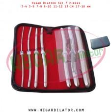 Hegar dilator set 7 pieces 3-4, 5-6, 7-8,  9-10, 11-12, 13-14 and 17-18 mm