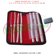Hegar dilator set 7 pieces 3-4, 7-8,  9-10, 11-12, 13-14, 15-16 and 17-18 mm