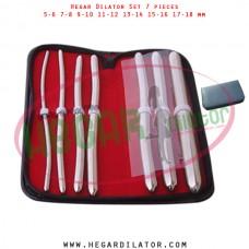 Hegar dilator set 7 pieces 5-6, 7-8,  9-10, 11-12, 13-14, 15-16 and 17-18 mm